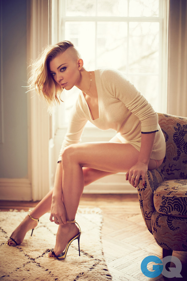 GQ photoshoot hairstyle natalie dormer