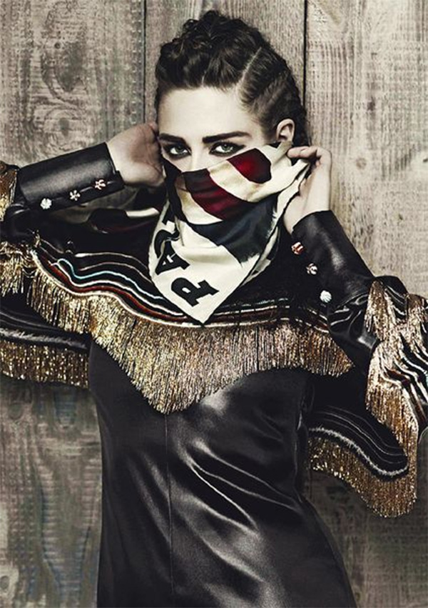 Kristen Stewart Chanel ad fun braided hairstyle