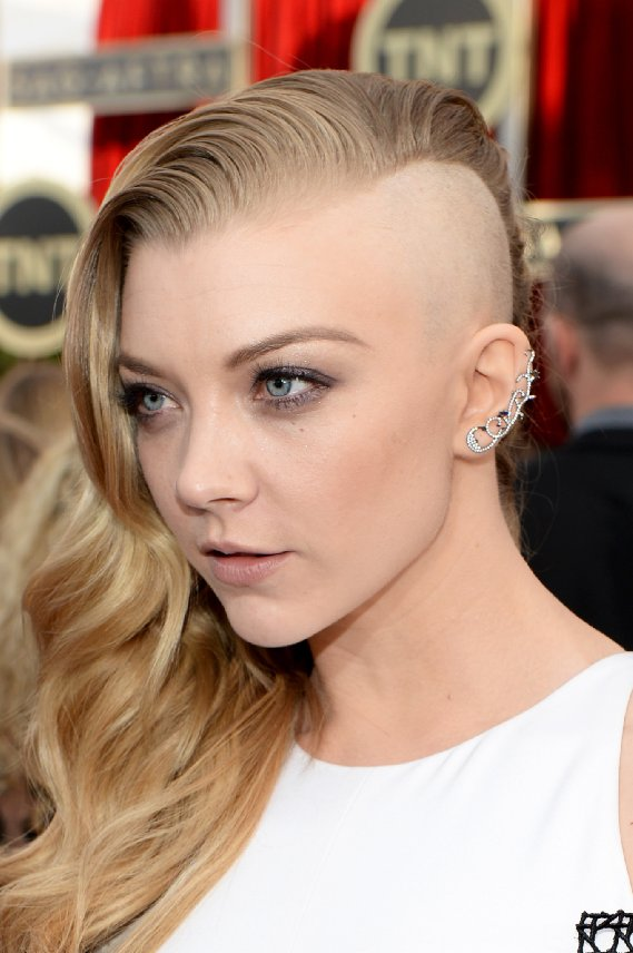 Natalie Dormer shaved side of head hairstyle