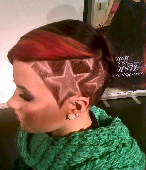 giant stars undercut hair cut design
