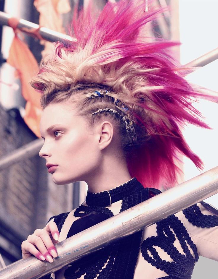 Daily Hair Spotting – Modern Pink Mohawk With Braided ...
