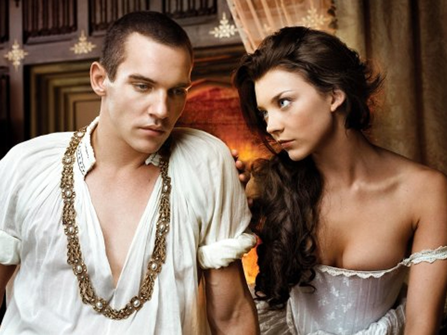 natalie dormer and Jonathan Rhys Meyers in the tudors long flowing hair