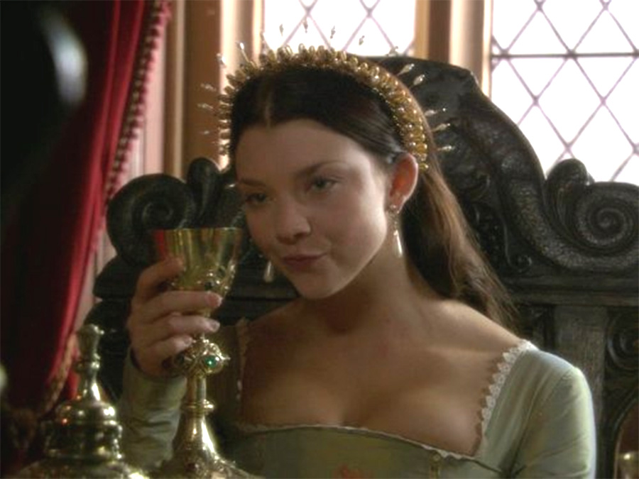 Natalie Dormer The Tudors Gold And Pearl Headband Crown