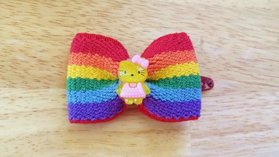 pride bow rainbow with cute bear