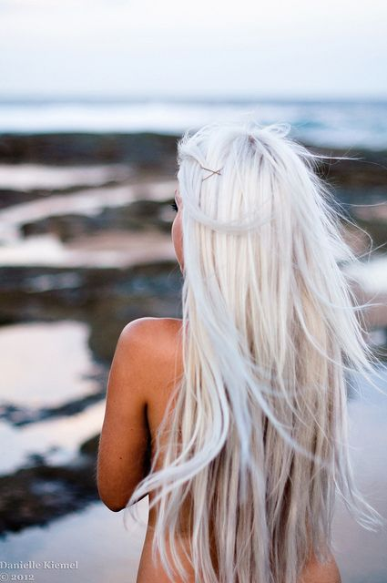 long white hairstyle