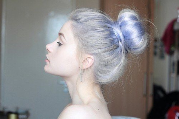 silver with lavender hair dye