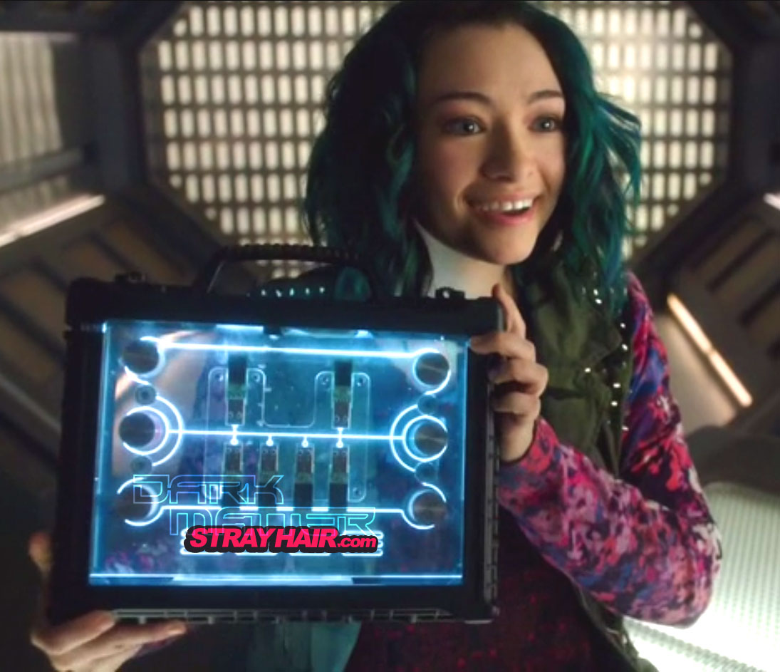 DarkMatter TV Show Number 5 Blue and Green Hair color