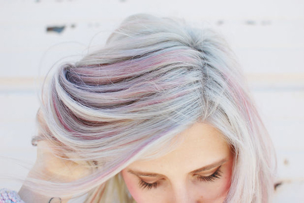 light pastel opal hair color