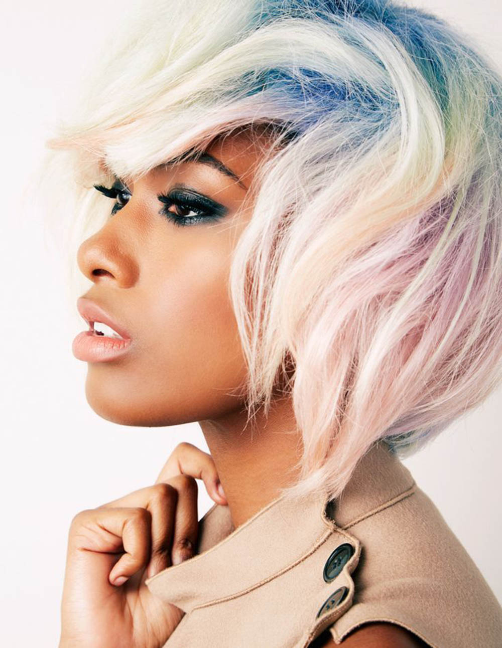 opal bleached hair light pastel