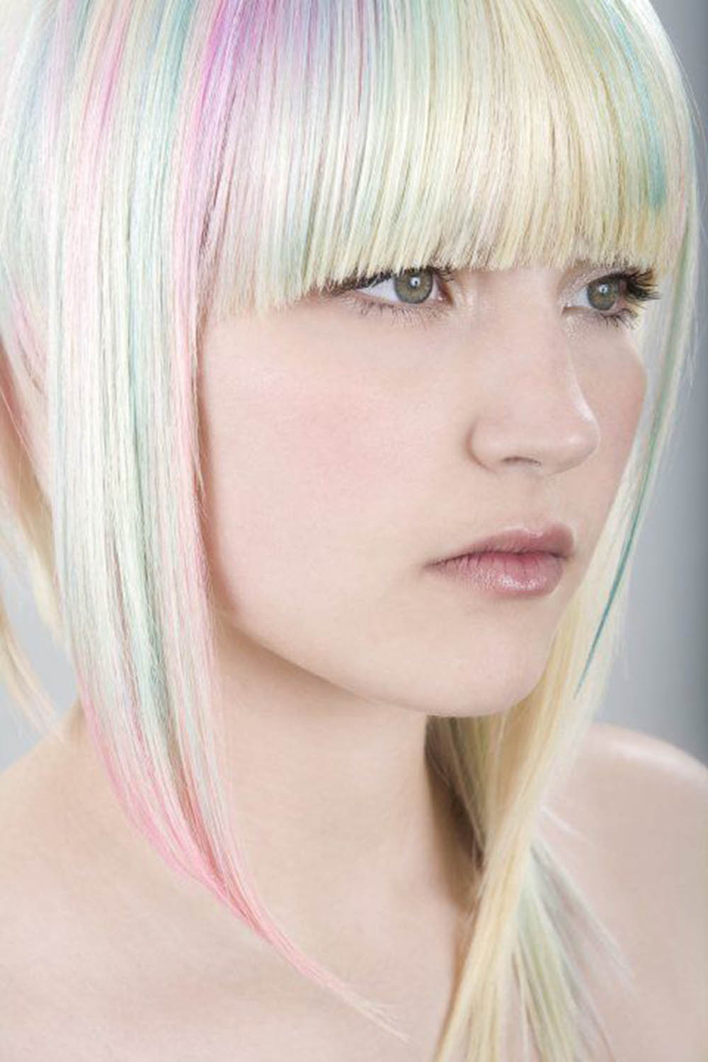 opal pastel rainbow haircolor