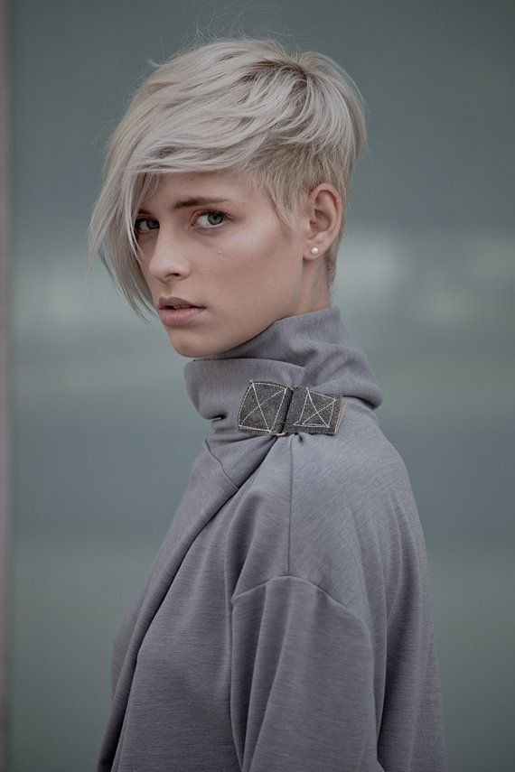 short hair undercut blond