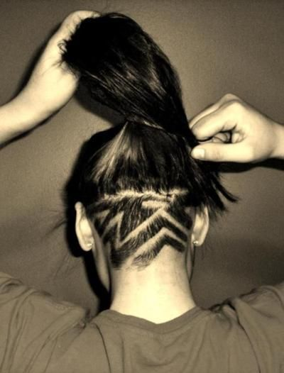 strong undercut hair design