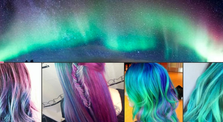 Aurora nothern lights colored hair