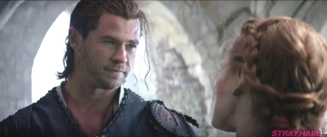 Chris Hemsworth and Jessica Chastain hairstyle The Huntsman Winters War