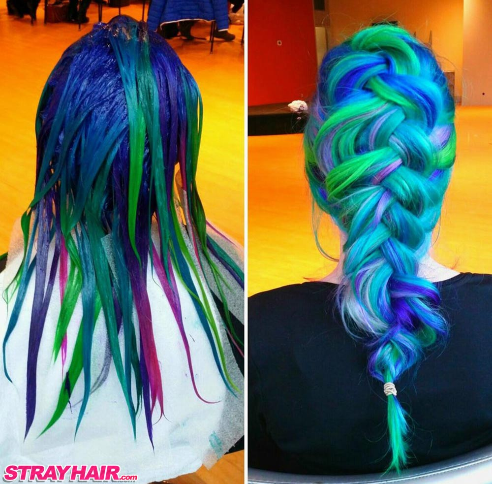 Northern Lights Hair Color Braided
