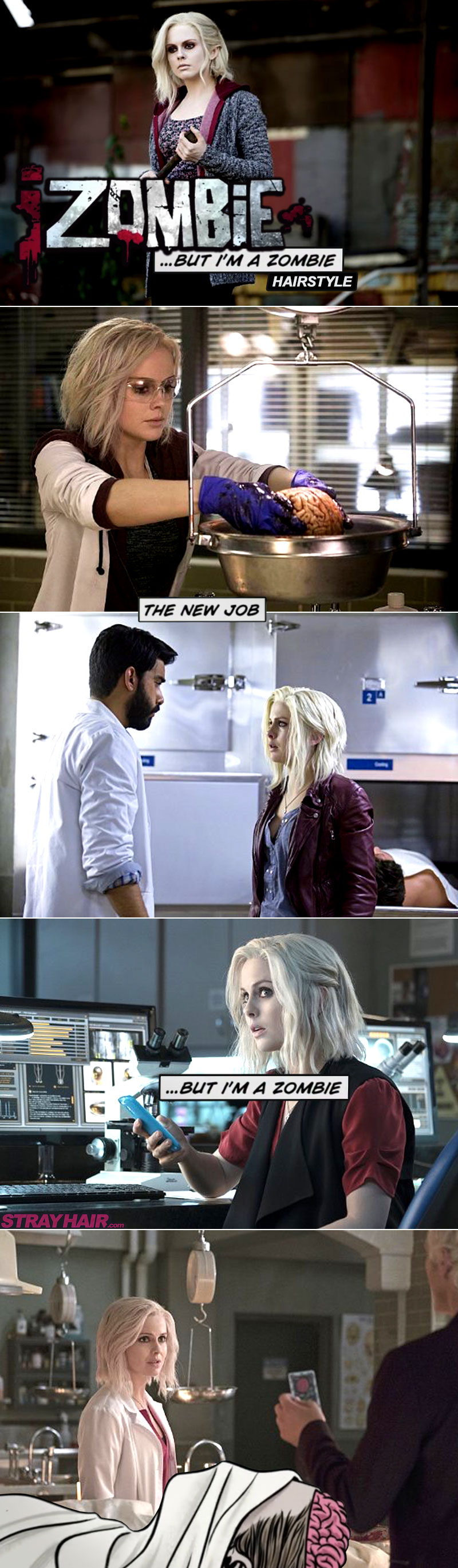 Rose Mclver iZombie white hairstyle pictures