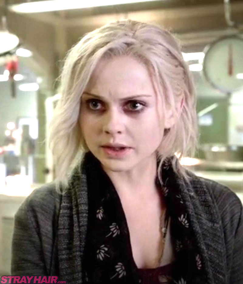 iZombie tv show white haircolor Rose Mclver as Liv Moore