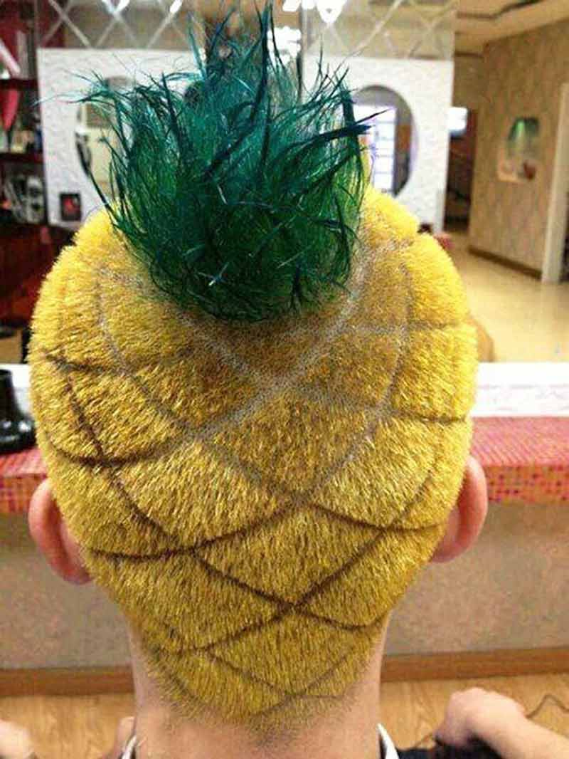pineapple head hairstyle