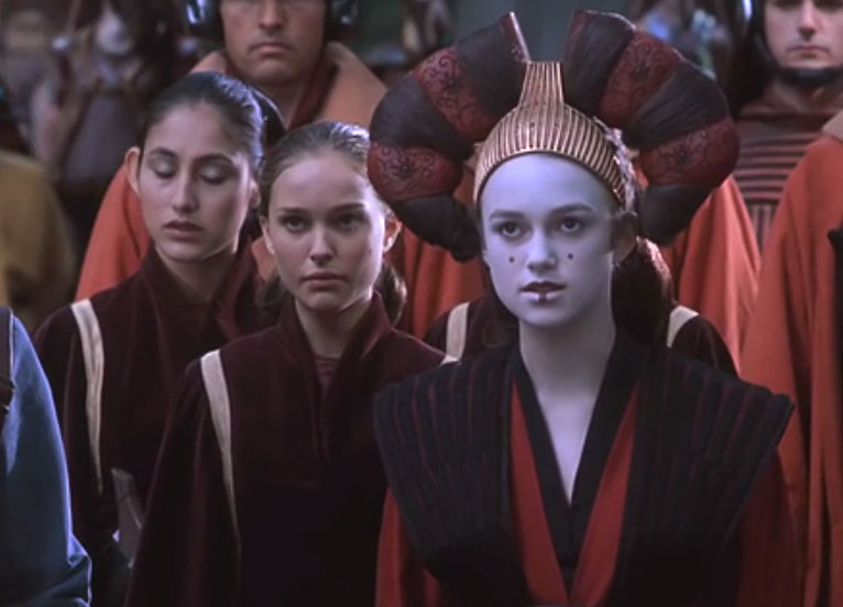 star wars episode 1 natalie portman queen amidala decoy hairstyle