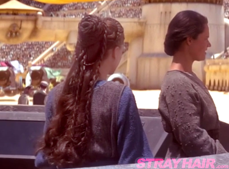 starwars episode 1 handmaid padme braided hair back natalie portman