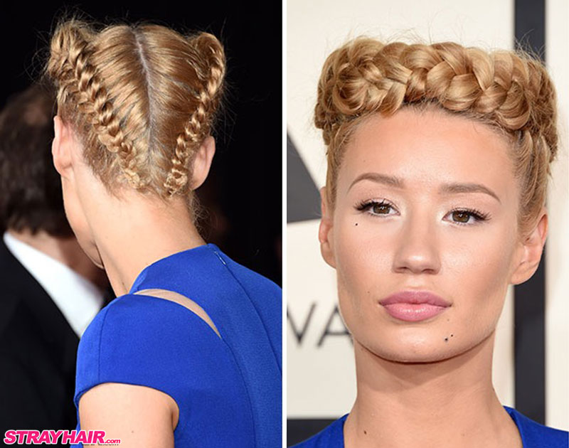 Iggy Azalea Crown Braided Hairstyle