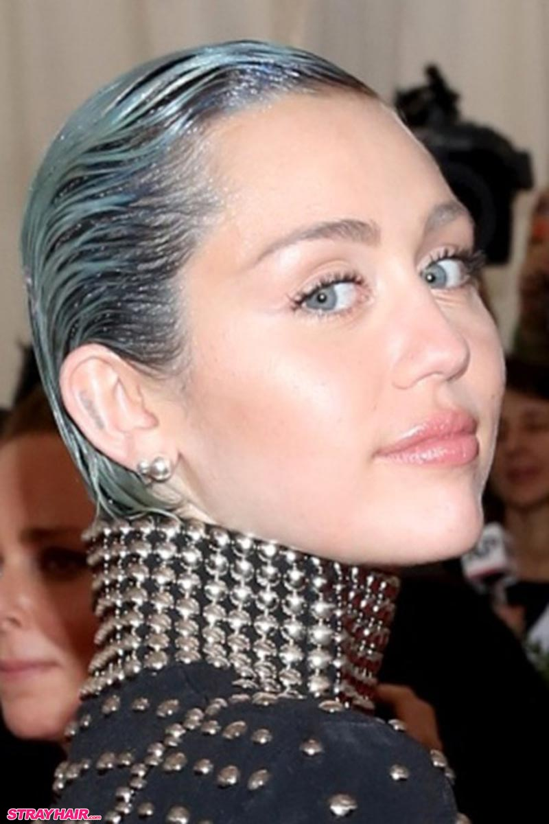 Miley Cyrus Blue GlitterRoots Hair