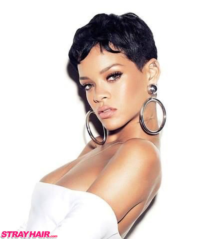 Rihanna Short Cute Pixy Hairstyle