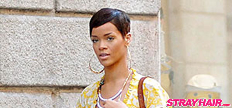 Rihanna Short Hair Cute Pixy Cut