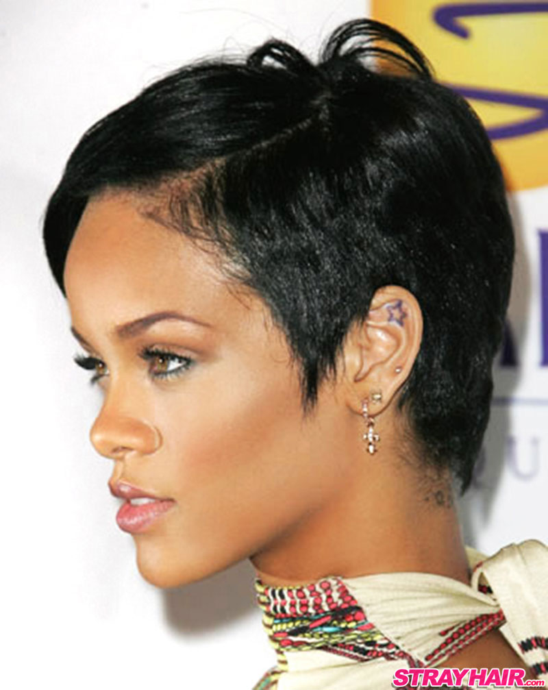 Rihanna Short Hair Pixy Cut