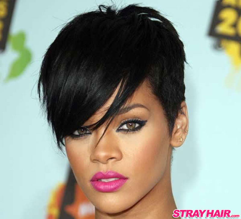 Rihanna amazing short hairstyle