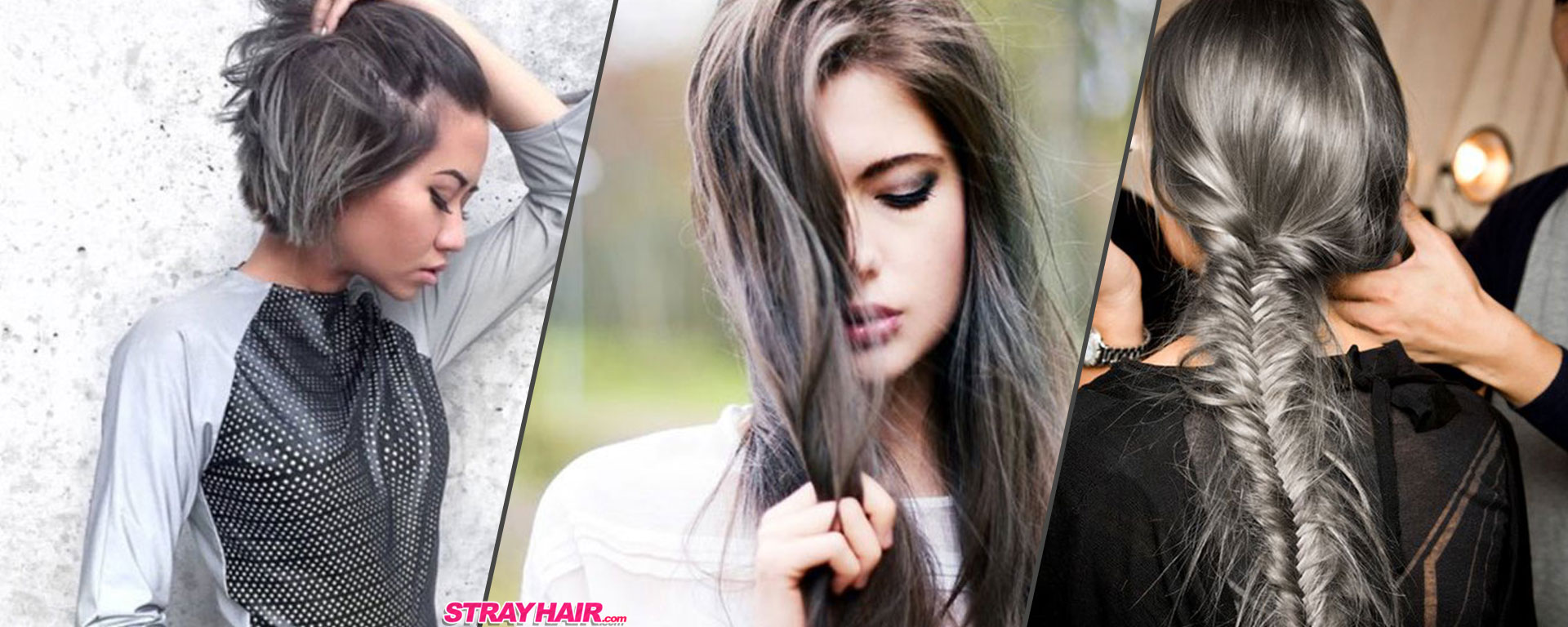 featured gunmetal gray hair