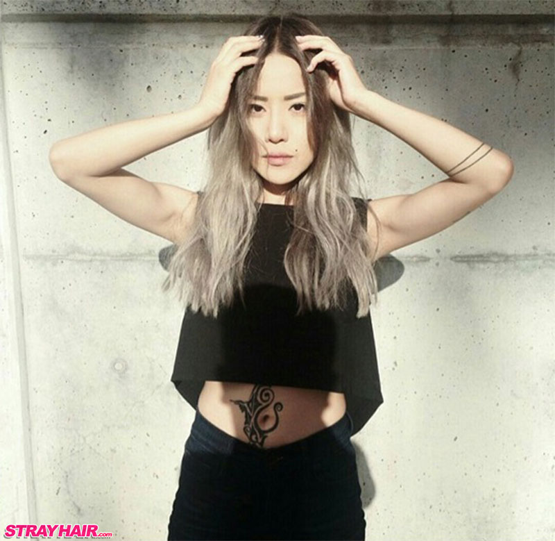 great long grar hair color