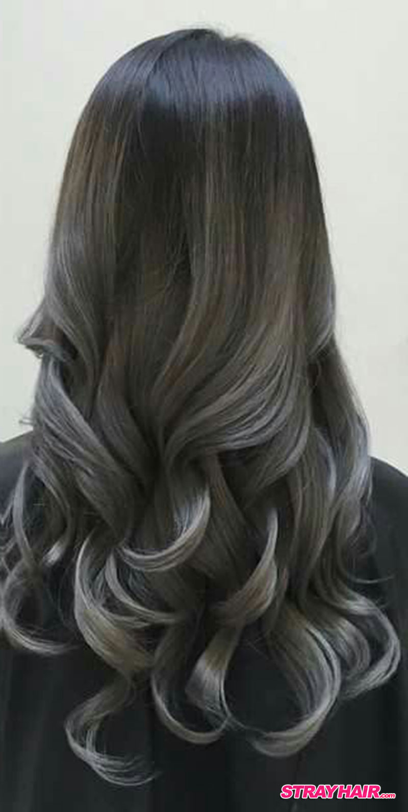 gunmetal gray balayage hair