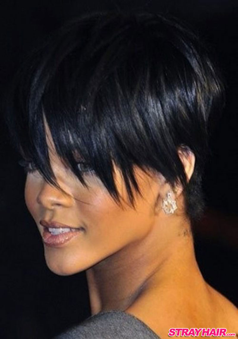 rihanna cute short hair
