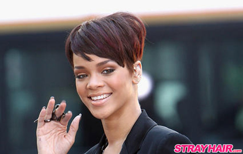 rihanna short cute hairstyle