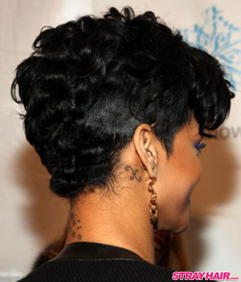 rihanna short hair back