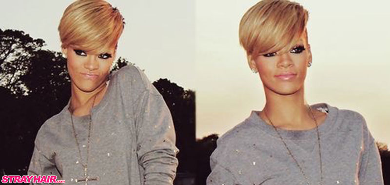 short blonde undercut hairstyle rihanna