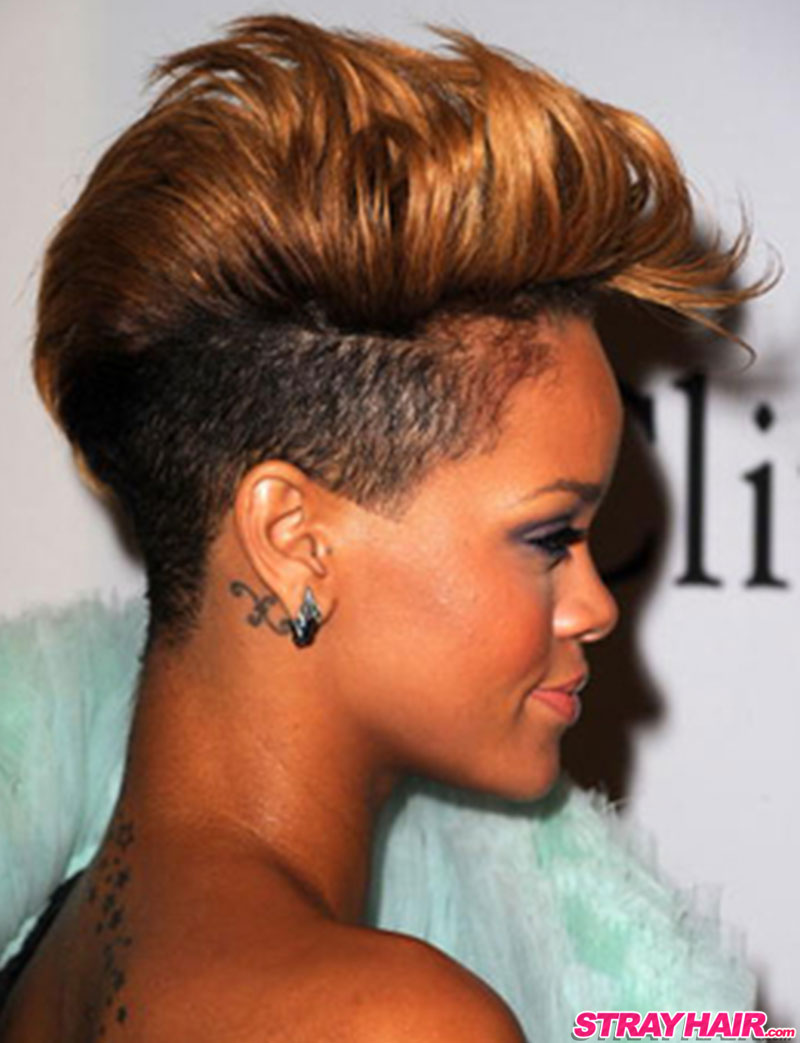 Rihannas many great short hairstyles strayhair undercut pompadour hairstyle rihanna pmusecretfo Images