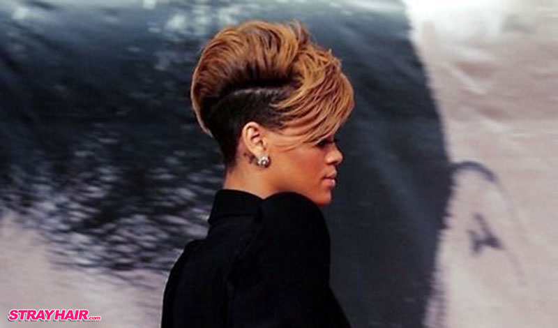 up and down hairstyle rihanna short hair