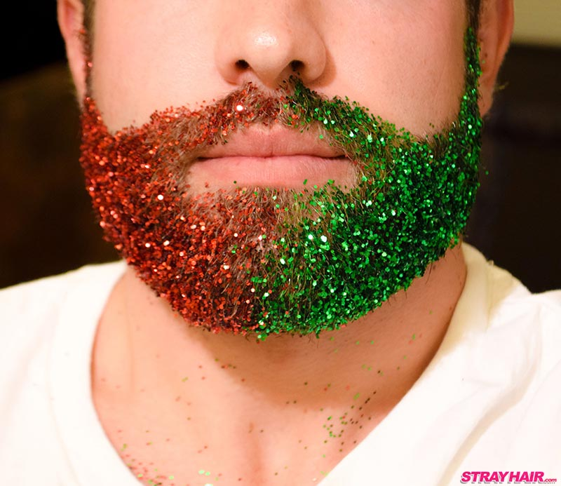Red Green Glitter Beard