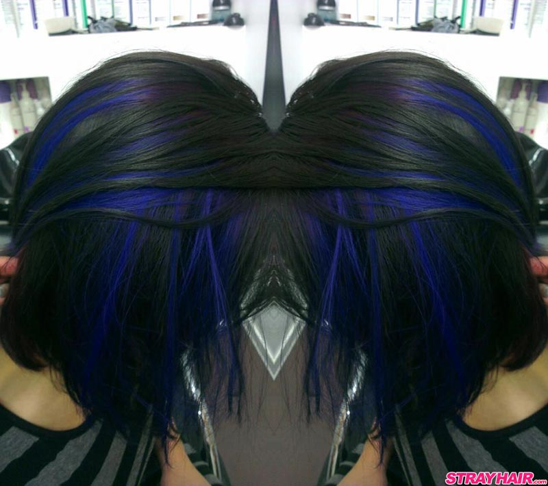 beep blue and black hair color