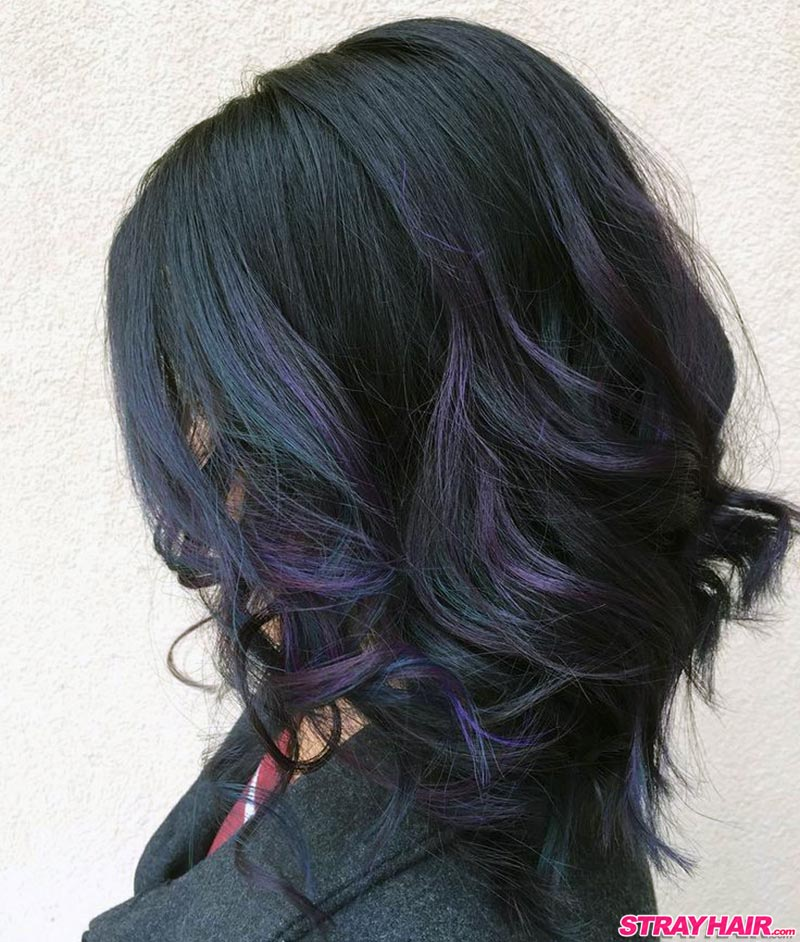 dark purple oil slick hair color