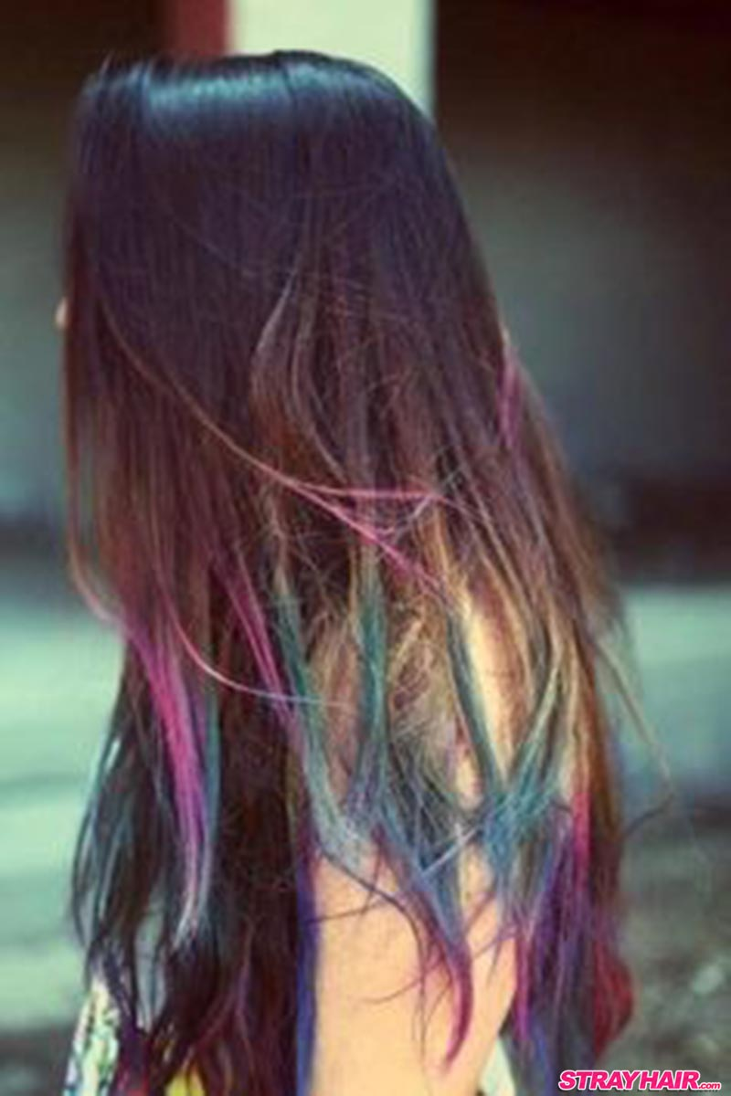 oil slick hair color ends