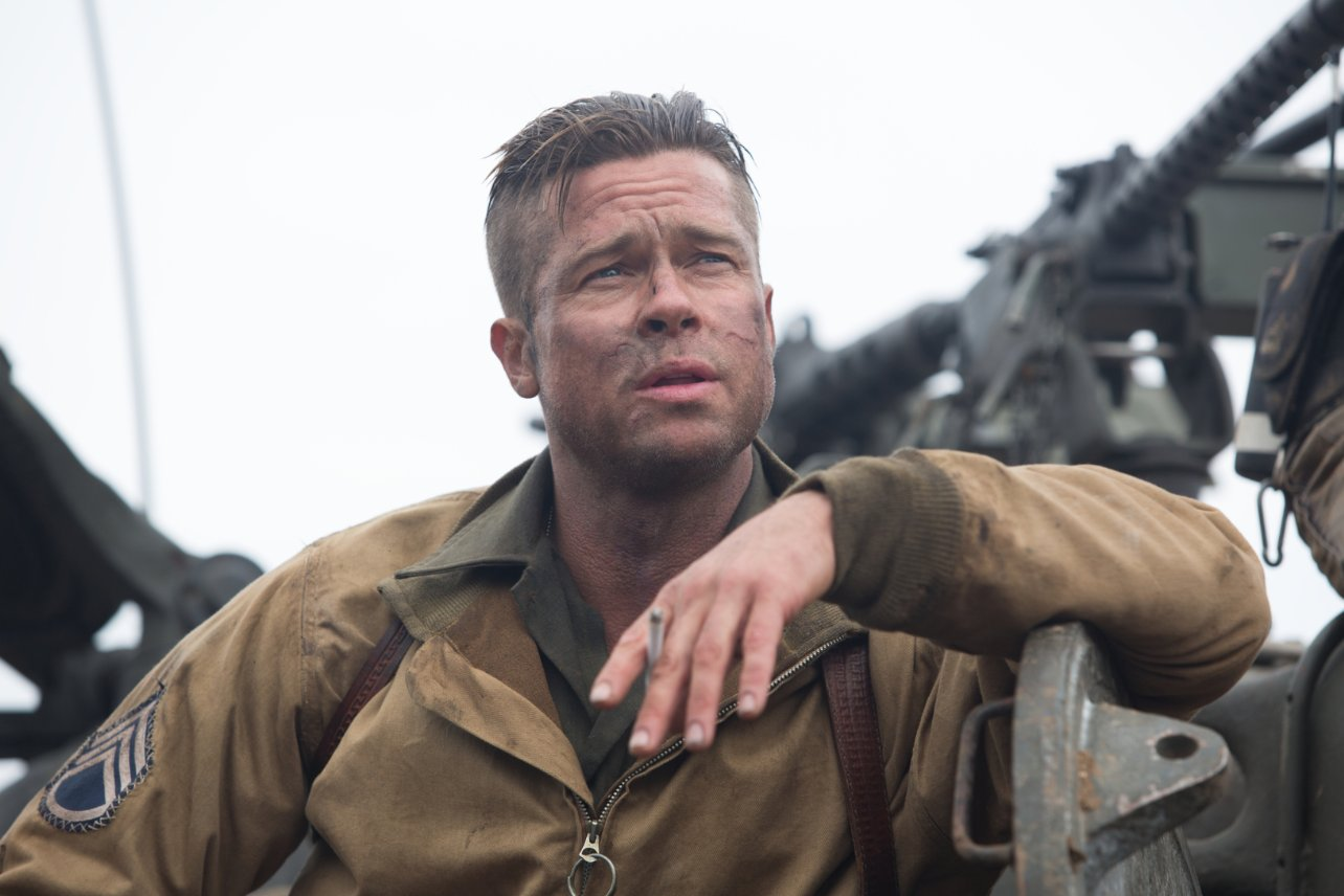 Brad Pitt hair cut in Fury front view