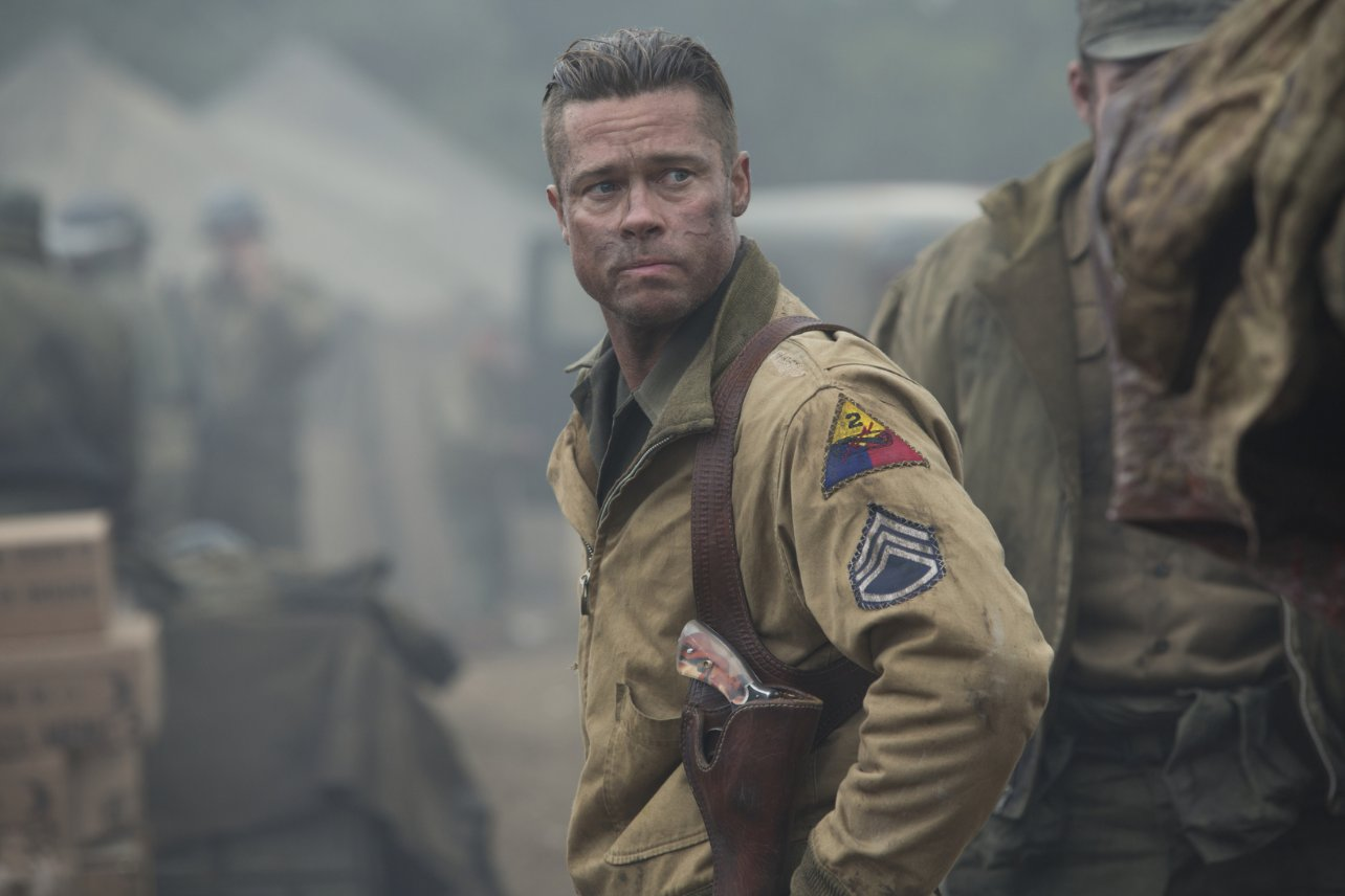 Brad Pitt in movie Fury hairstyle