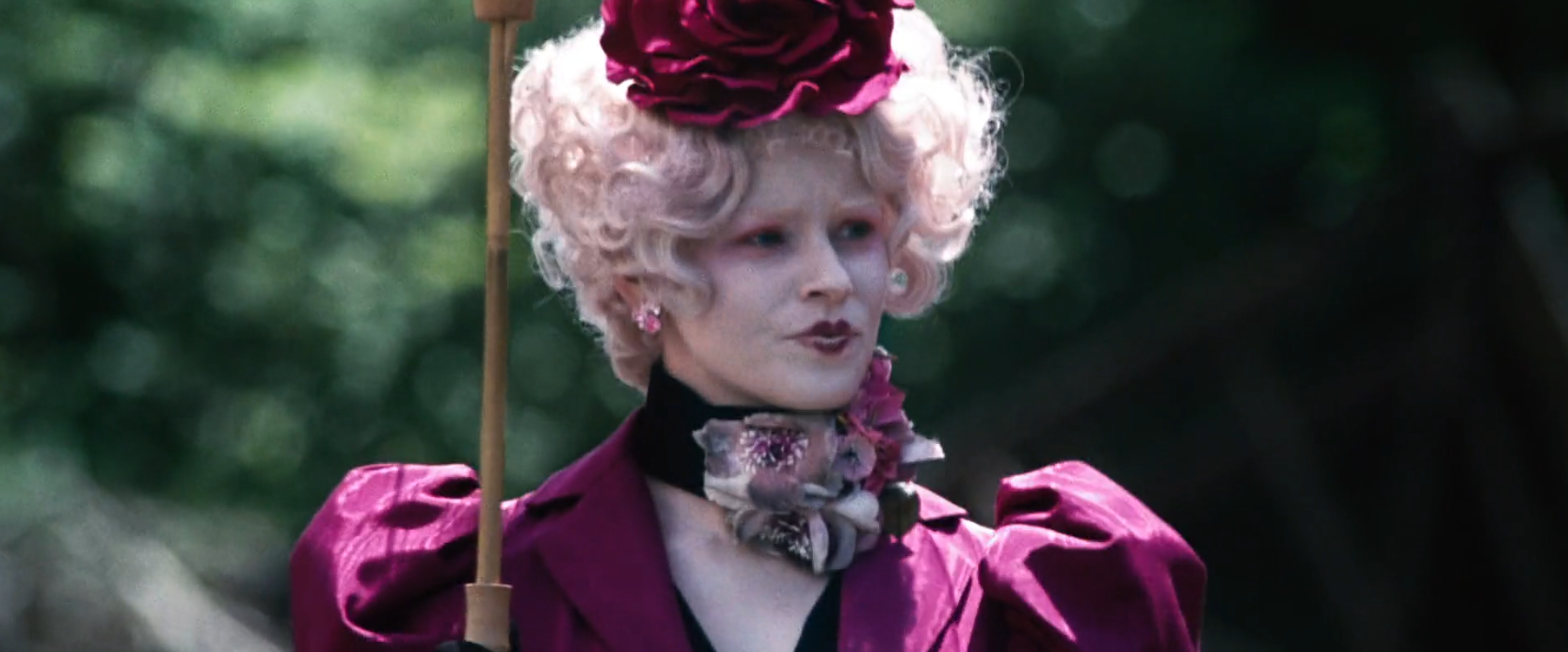 Elizabeth Banks as Effie Trinket in the hunger games awesome hairstyle