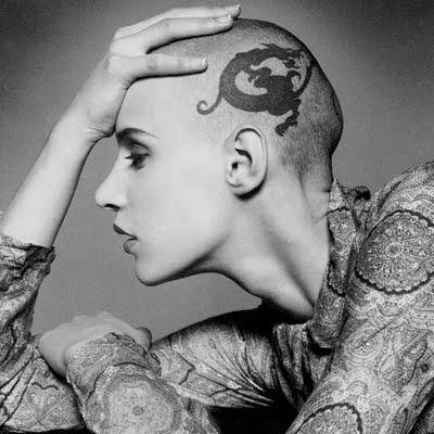 Eve Salvail head tattoo head tattoo