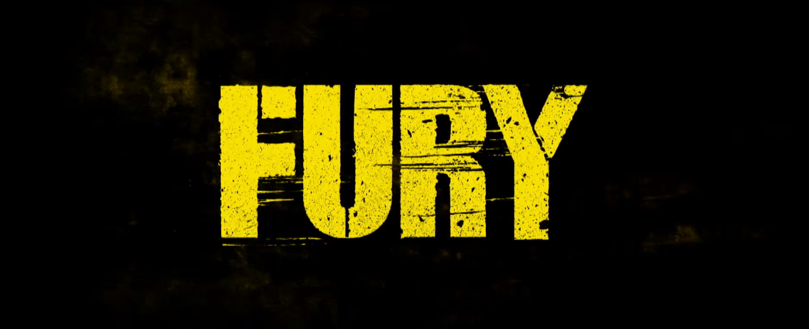 FURY movie logo title screen