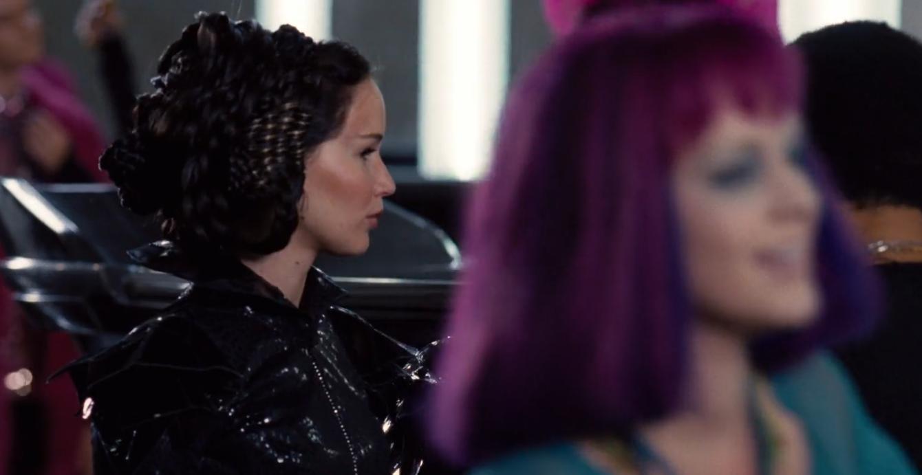 Jennifer Lawrence Katniss hunger games fancy updo hair