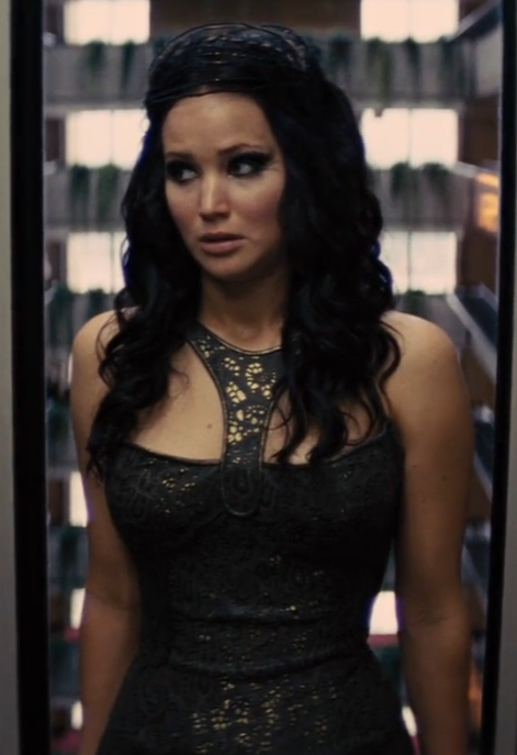 Katniss Everdeen Long Dark Wavy Hair Hunger Games Movie